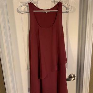 Naked Zebra Burgundy Color Dress
